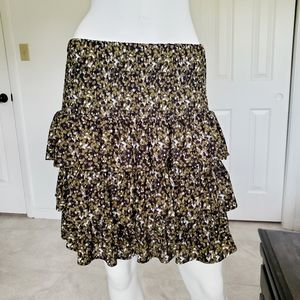 MICHAEL Michael Kors Floral Tiered Ruffle …
